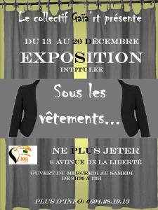 Affiche expo Gaiart decembre 2014 à Ne Plus Jeter
