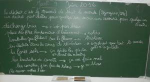 Prise de notes avec les CM2 de l'école Alexis Jonas